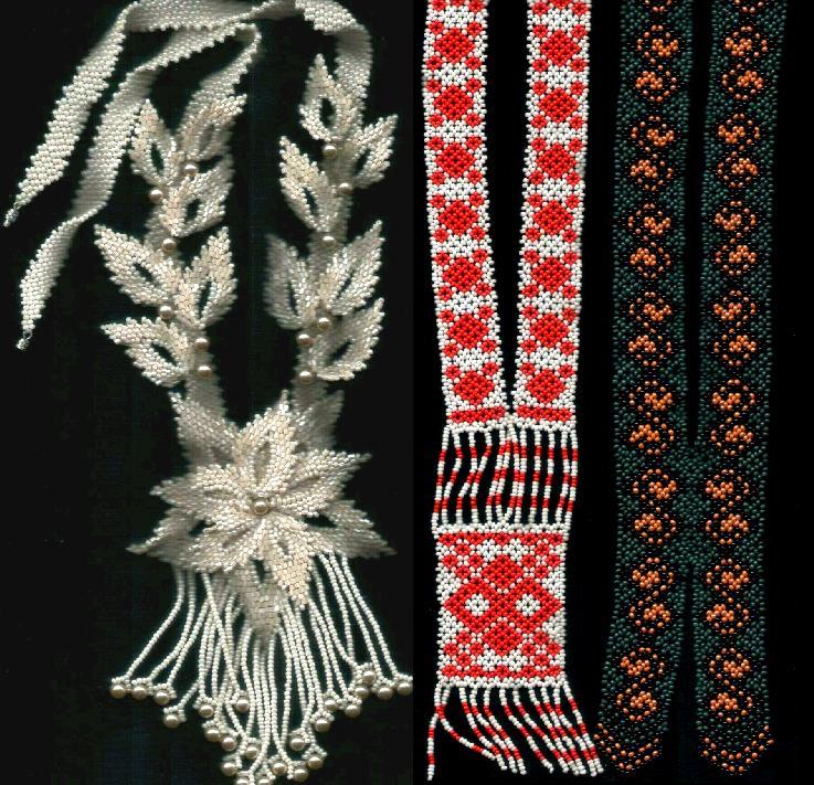 Схемы плетения Автор работ: Anabel Подборка из шести схем плетения красивейших украшений на шею из разноцветного...